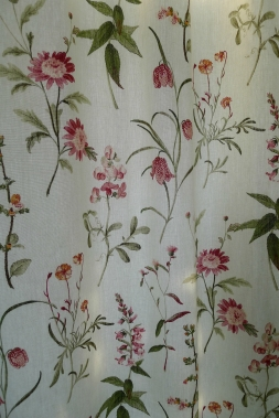 Dining Room: Red Alice Curtain